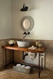 bathroom bathroom vanity with vessel sink and steampunk bathroom