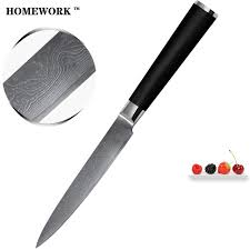kitchen knives on sale sale damascus knife 5 inch 9cr18mov damascus steel kitchen