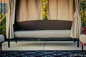 outdoor u0026 landscaping surprising rattan outdoor daybed with gray