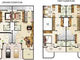download row house floor plan design adhome