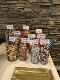graduation decorations themed candy bar diy graduation party ideas for high school