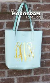 iron on monogram initials diy gold foil monogram tote bag with your silhouette cameo the