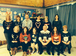 a few members of staff on our christmas dress down day roslin