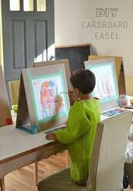 cardboard easels alternatives in the painting center