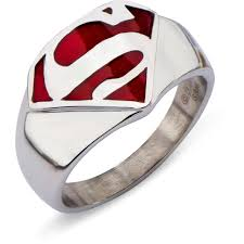 stainless steel red superman ring walmart com