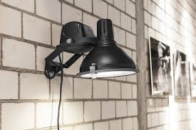 industrial wall lamp small black norr11
