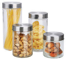 clear glass kitchen canisters glass kitchen canister sets ebay