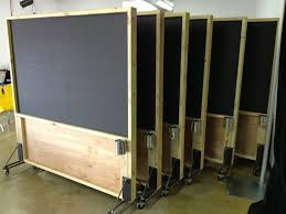 rolling distressed wood magnetic chalkboard partitions porter