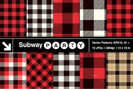vector lumberjack plaid patterns patterns creative market