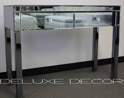 mirrored console vanity table smoke bevelled mirrored 2 drawer console dressing table 2501g