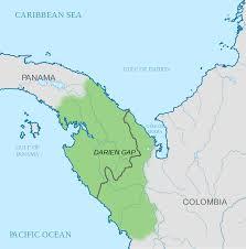 Map Of Central America And South America Darién Gap Wikipedia