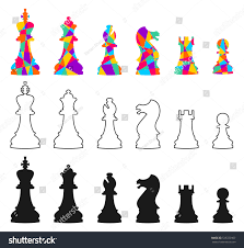 set vector chess icons isolated on stock vector 525723967