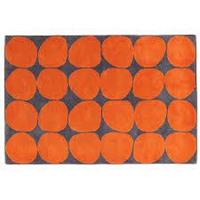 Modern Orange Rug Modern Orange Rugs Inside Ink Spot Rug The Land Of Nod Designs 2