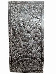 indian wooden furnitures carved wall panel antique