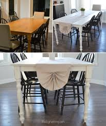 Dining Room Table Refinishing A Shabby Chic Farmhouse Table With Diy Chalk Paint The Diy Mommy
