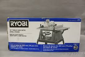 ryobi zrrts10g 15 amp 10 in table saw with steel stand power