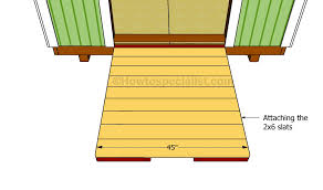 How To Build A Tool Shed Ramp by How To Build A Shed Ramp Howtospecialist How To Build Step By