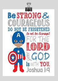 Captain America Decor African American Superhero Wall Art Christian Print Captain