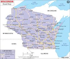 wisconsin map usa road map