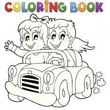 Coloriage à imprimer  en route pour le coloriage voiture  Familifr
