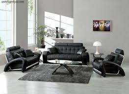 Faux Leather Living Room Set Bedroom Furniture Black Modern Living Room Furniture Medium
