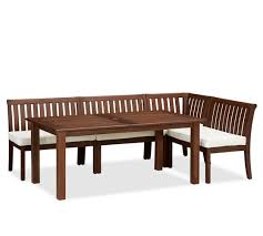 Outdoor Dining Set With Bench Chatham Rectangular Extending Dining Table U0026 Banquette Set Dark