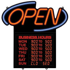 open business hours led sign sam s club