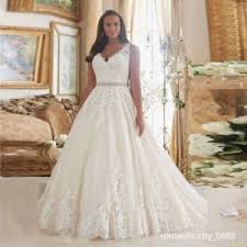 wedding dresses plus size uk 2018 new lace v neck a line zipper wedding dress bridal gown plus