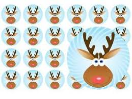 24 precut transformers edible wafer paper cake toppers decorations 24 x christmas rudolph new pre cut fairy cup cake toppers
