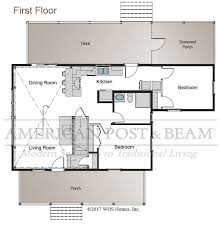 Timberpeg Floor Plans Frost Valley Cottage U2013 Post And Beam Floor Plan American Post U0026 Beam