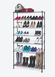 7 tier wire shoe rack in black wire shelf additions