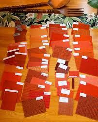 49 samples of orange upholstery for my new midcentury modern