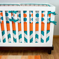 Mini Crib Sets Blue And Orange Nursery Crib Sets Bedding For Baby And Boys