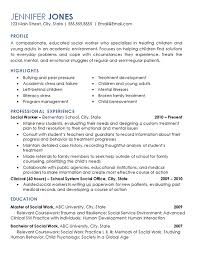 social work resume exles social worker resume exle elementary school children