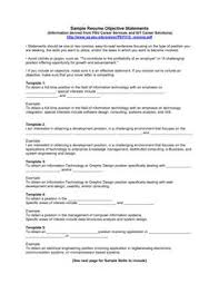 Objective statements for resumes and get inspiration to create a good resume