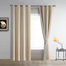 Greenish Gray Vertical Striped Curtains Adding Vertical Striped Drapery Will