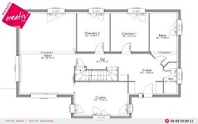 maison 6 chambres plan maison 6 chambres plain pied perspective 7 plan