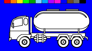learn colors for kids with oil truck super monster truck