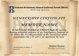 borderless certificate templates brain high iq society certificates 7 12