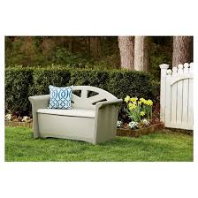 rubbermaid bench with storage patio storage bench rubbermaid target