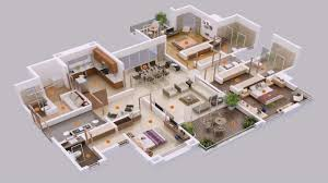 five bedroom floor plans 5 bedroom house plans 3d