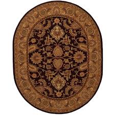 6 X 9 Oval Area Rugs Safavieh Classic Plum Gold 7 Ft 6 In X 9 Ft 6 In Oval
