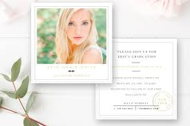 graduation announcements template senior graduation announcement card card templates creative market