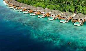 Maldives Cottages On Water by Maldives Hotel Encircled By White Sandy Beaches Dusit Maldives