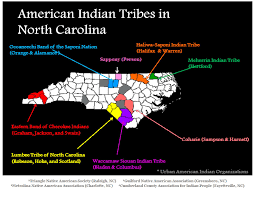 map of carolina tribes and american indian