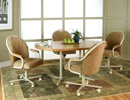 Upholstered Dining Room Chairs With Arms Dining Arm Chairs With Casters Best Dining Chairs With Casters