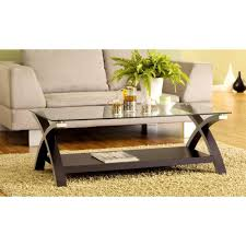 cross leg coffee table bisonoffice rakuten cross legs modern glass coffee table dark brown