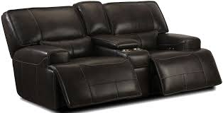 Power Recliner Loveseat With Console Denali Power Reclining Sectional From Simon Li Coleman Furniture