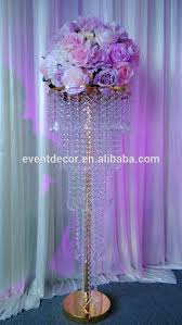 wedding decoration gold crystal chandelier table centerpieces
