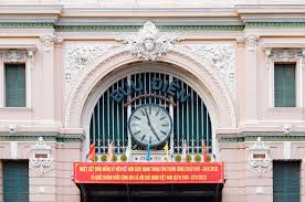 file clock and exterior of saigon central post office jpg